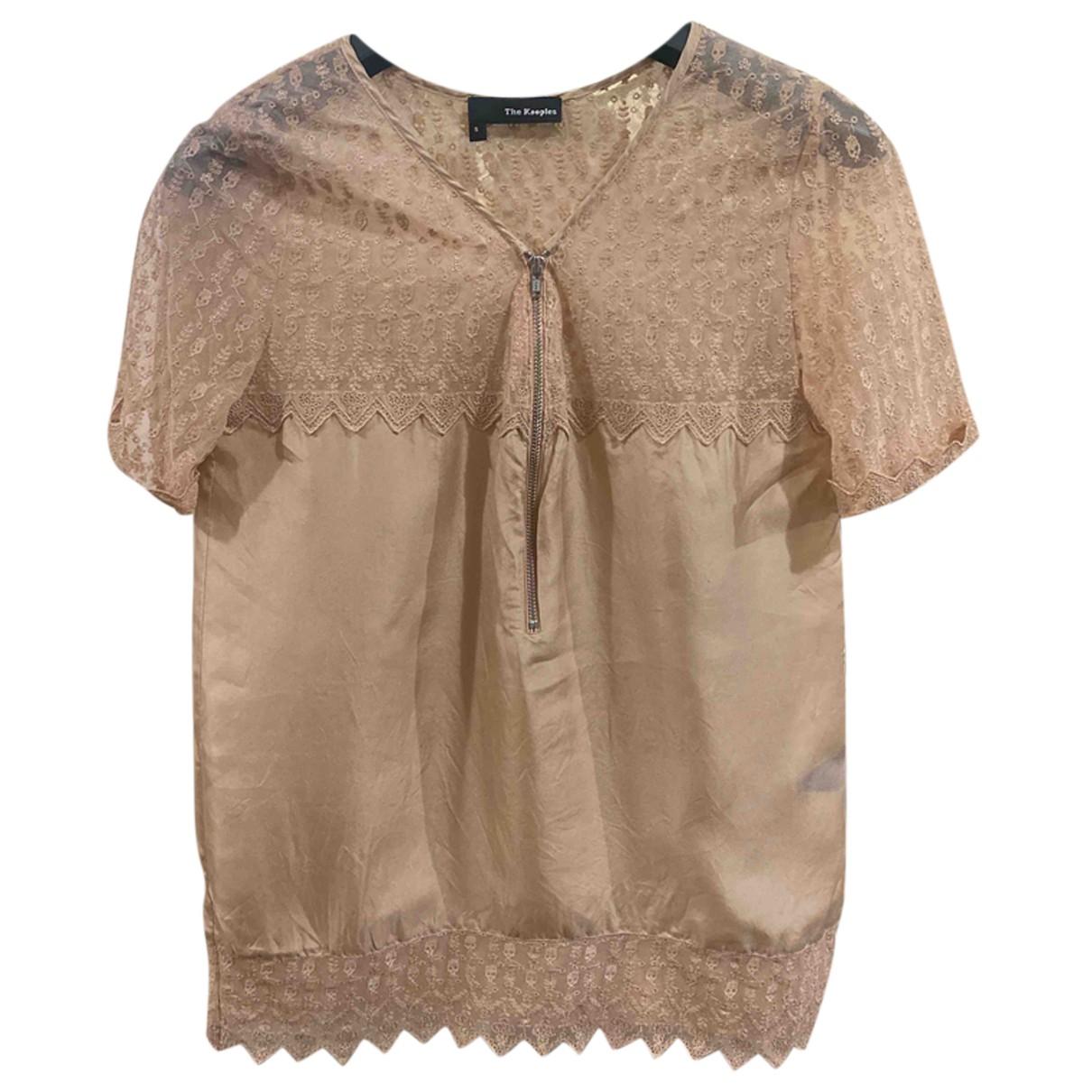 The Kooples - Top   pour femme en soie - beige