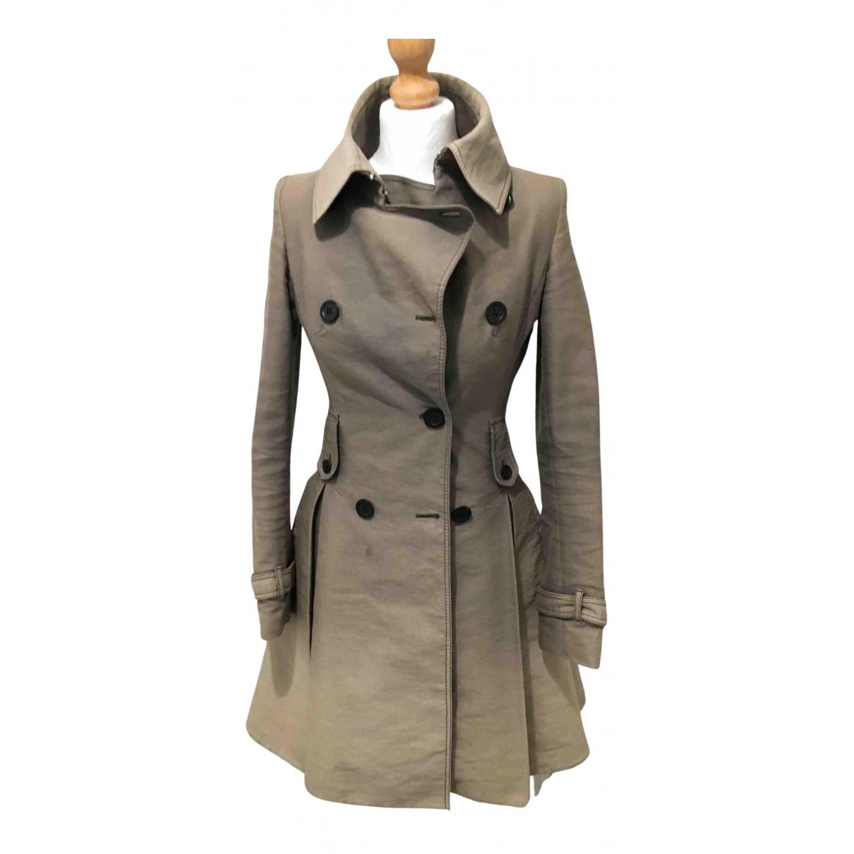 Karen Millen - Manteau   pour femme en laine - kaki