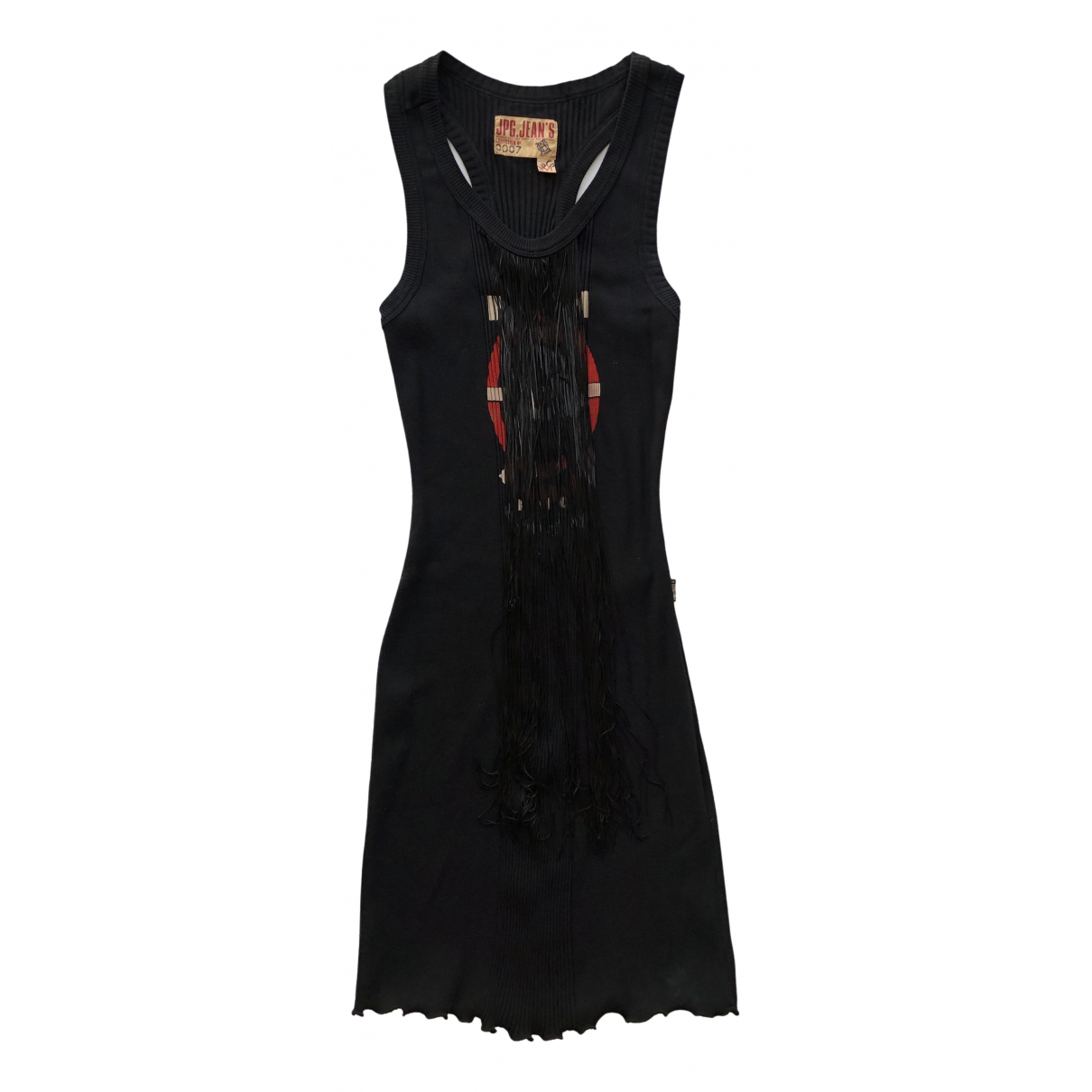 Jean Paul Gaultier \N Kleid in  Schwarz Baumwolle - Elasthan