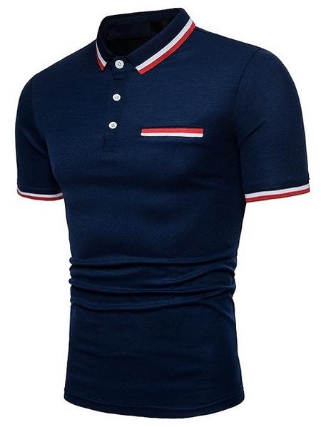 Yoins Men Summer Casual Button Front Plain Polos