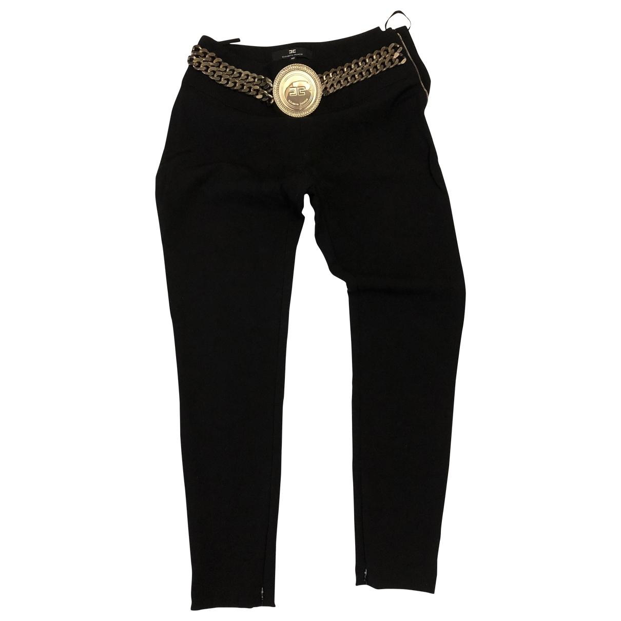 Elisabetta Franchi \N Black Trousers for Women 40 IT