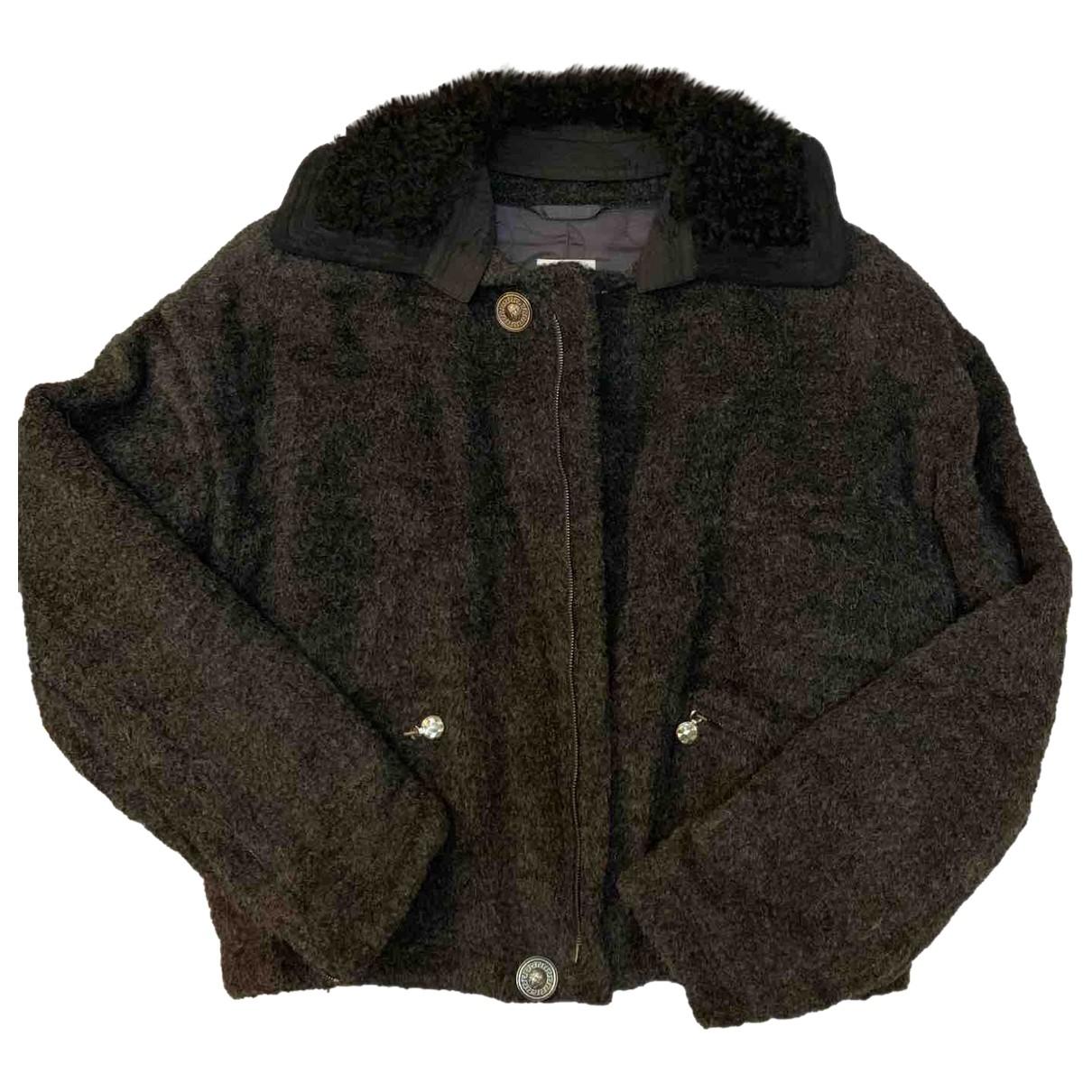 Gianni Versace \N Jacke in  Grau Wolle