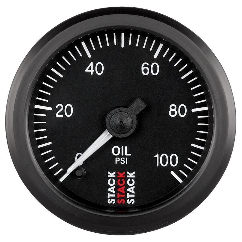 AutoMeter GAUGE; OIL PRESS; PRO STEPPER MOTOR; 52MM; BLK; 0-100PSI; 1/8in. NPTF MALE