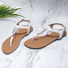 Sandalen mit Kette Bindung