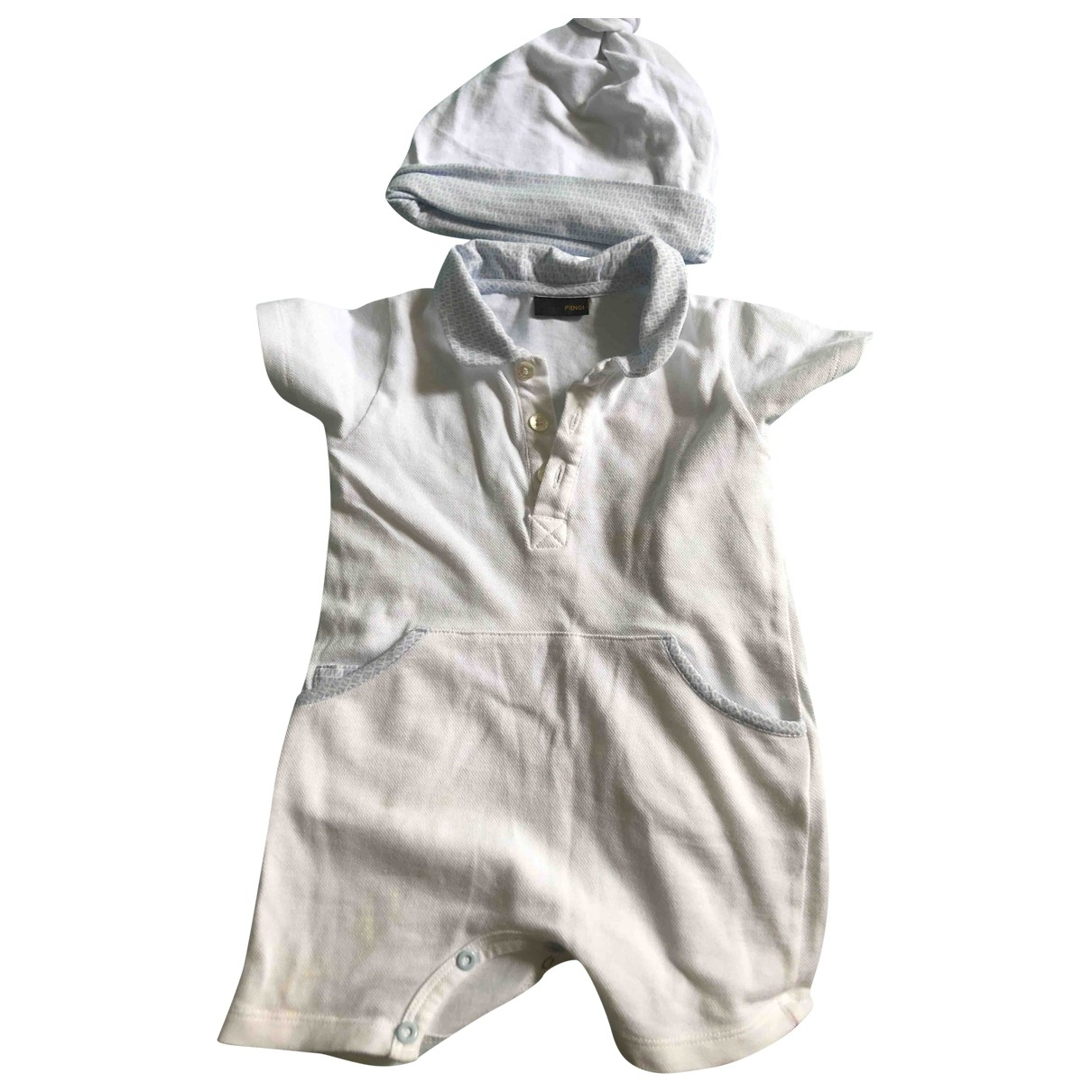 Fendi \N White Cotton Outfits for Kids 3 months - up to 60cm FR