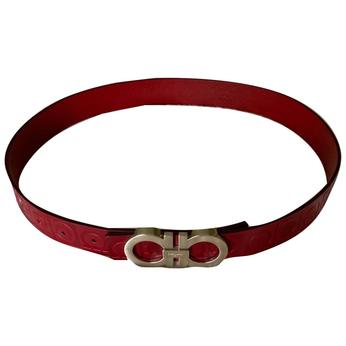 Salvatore Ferragamo \N Red Leather belt for Men 35 Inches