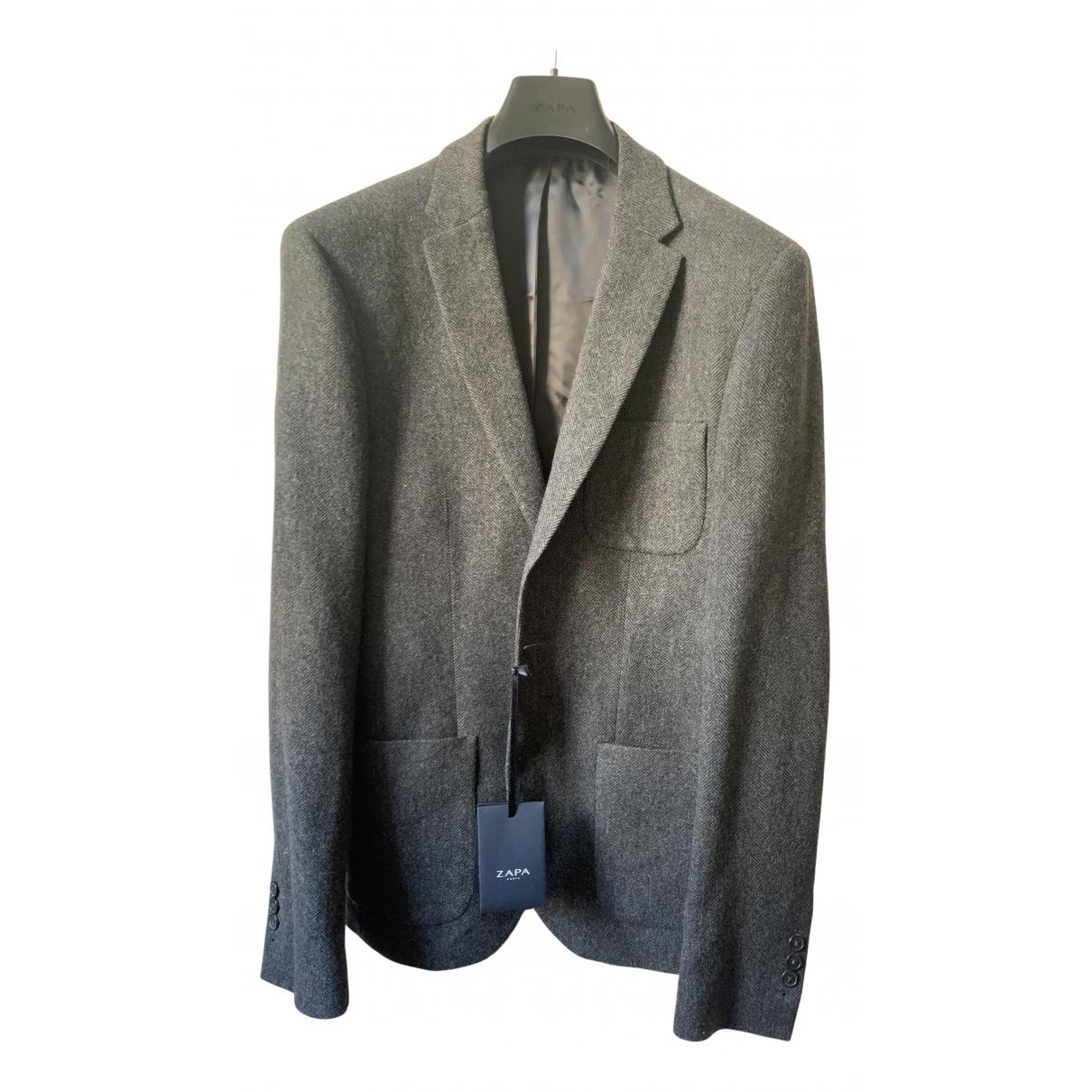 Zapa - Costumes   pour homme en laine - gris