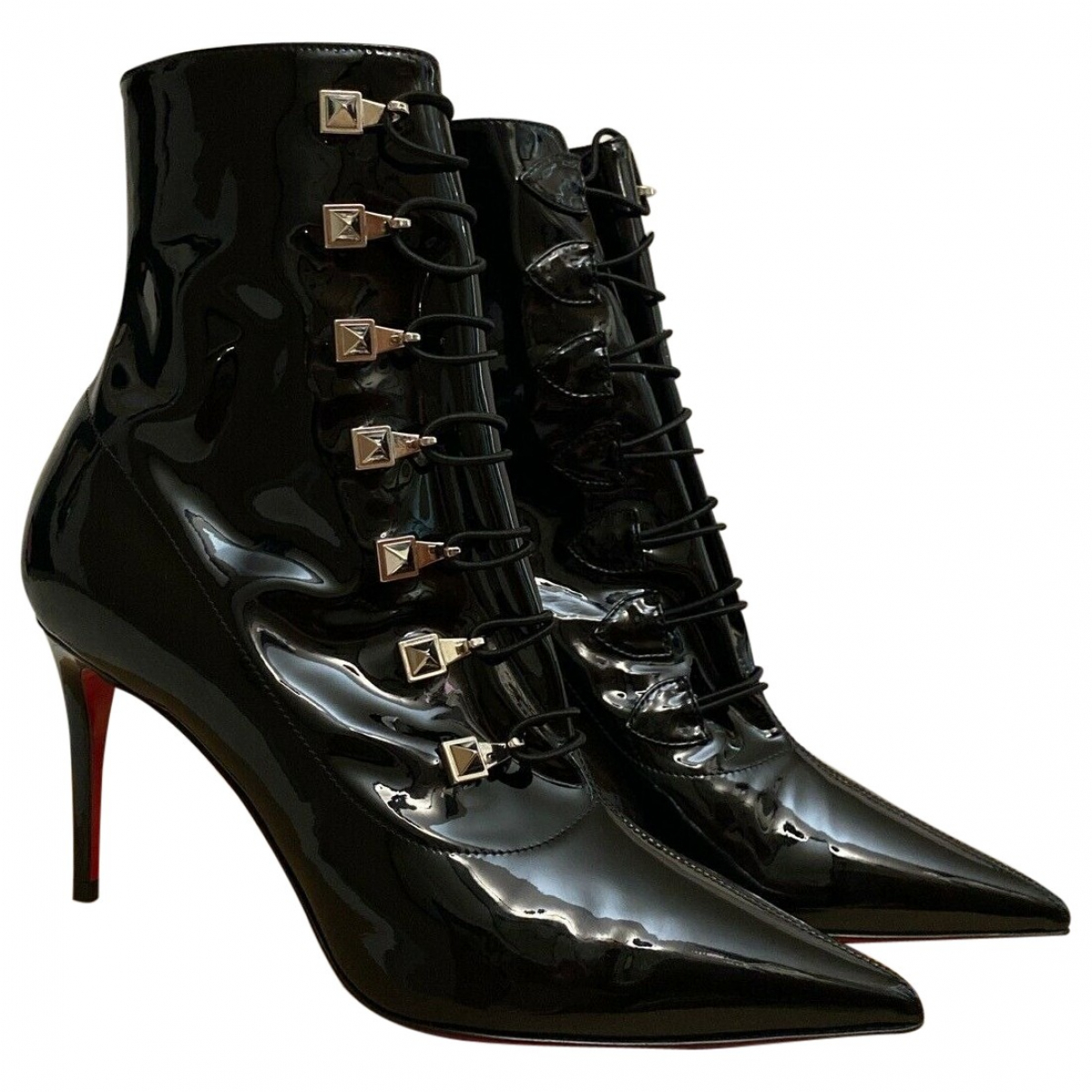 Christian Louboutin \N Black Patent leather Ankle boots for Women 36.5 EU