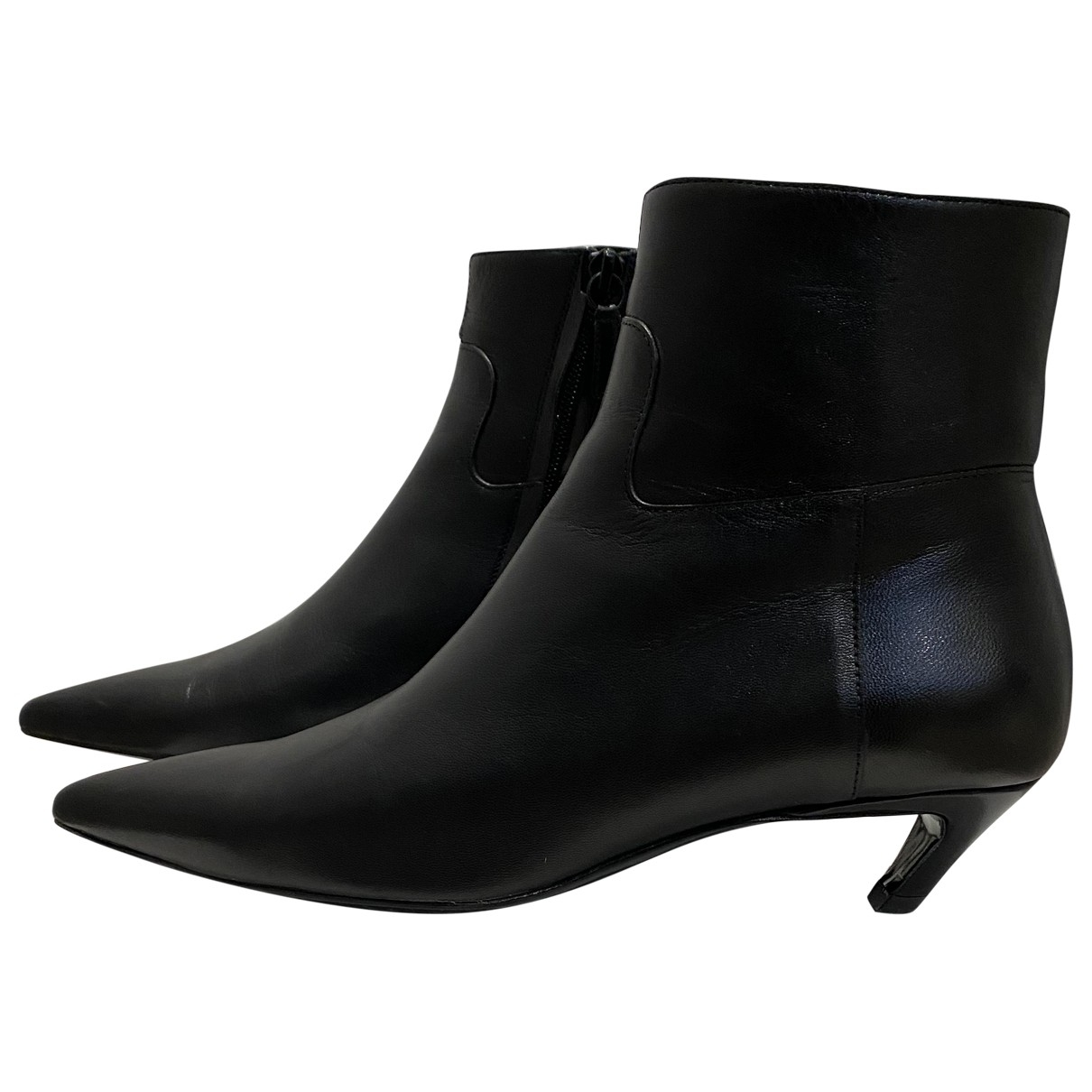 Balenciaga Slash Black Leather Ankle boots for Women 38 EU