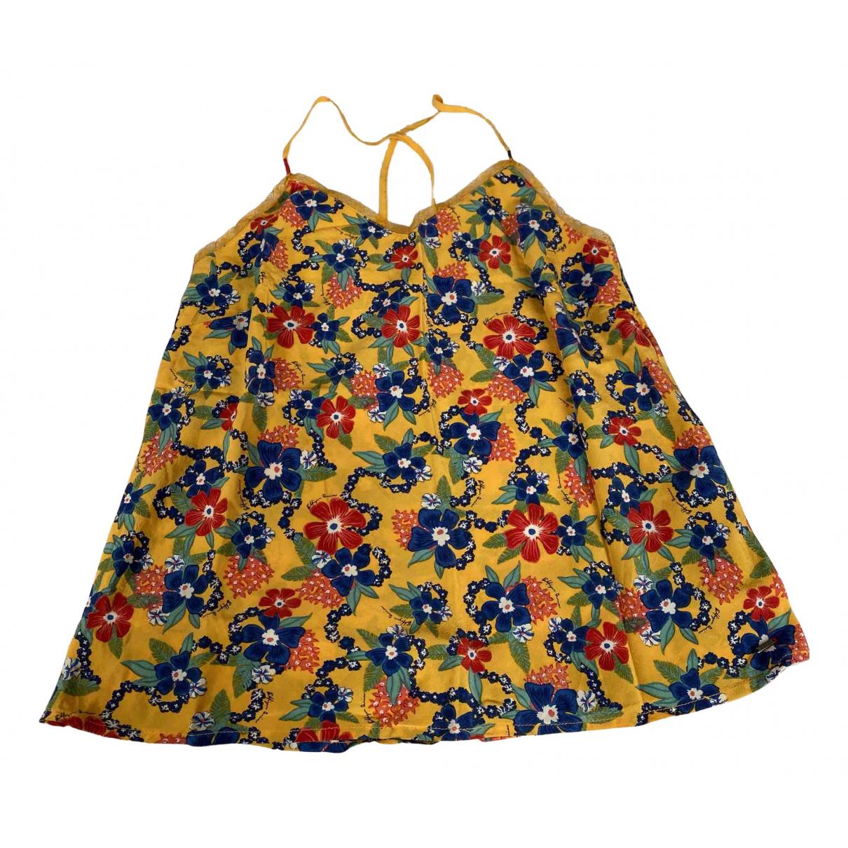 Tommy Hilfiger - Top   pour femme en soie - jaune