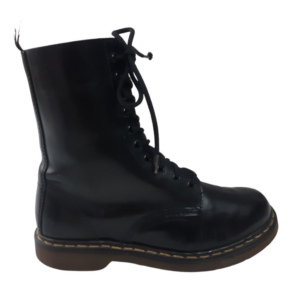 Dr. Martens 1490 (10 eye) Black Leather Boots for Men 41 EU