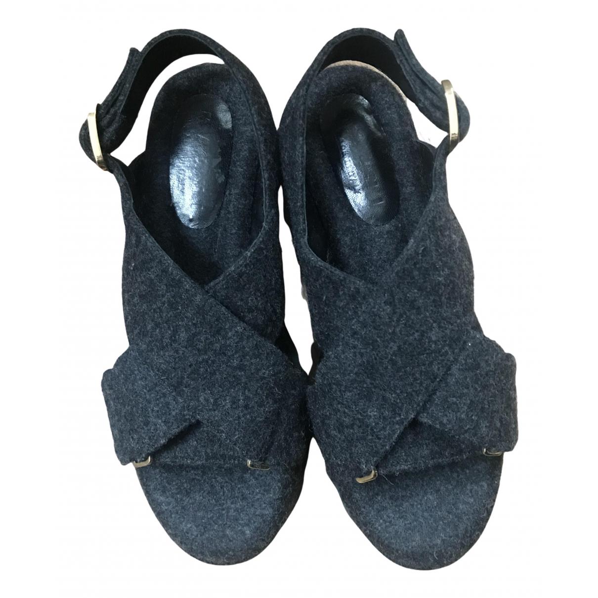 Marni - Sandales   pour femme en toile - gris