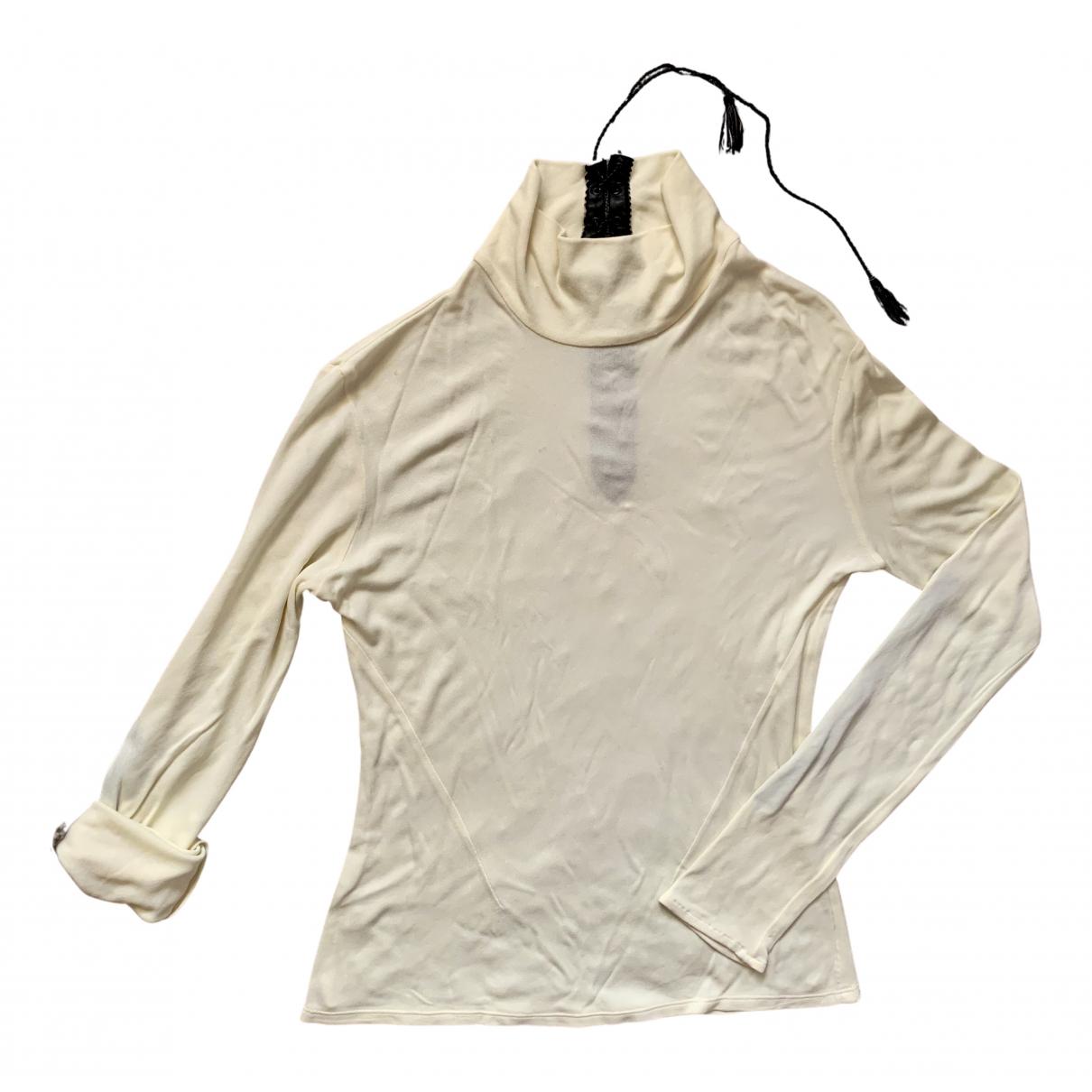 Versus - Top   pour femme en coton - beige