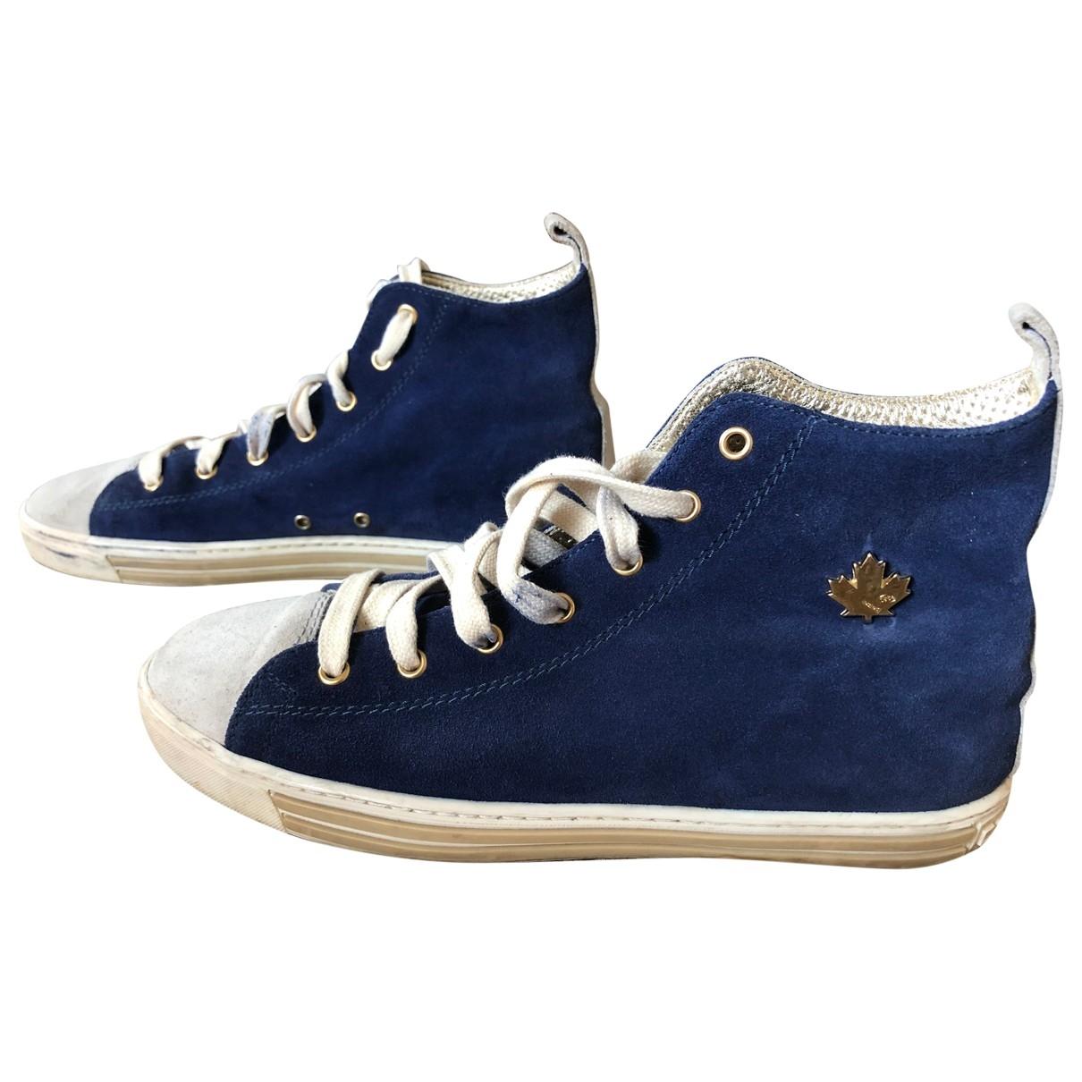 Dsquared2 \N Sneakers in  Marine Leinen