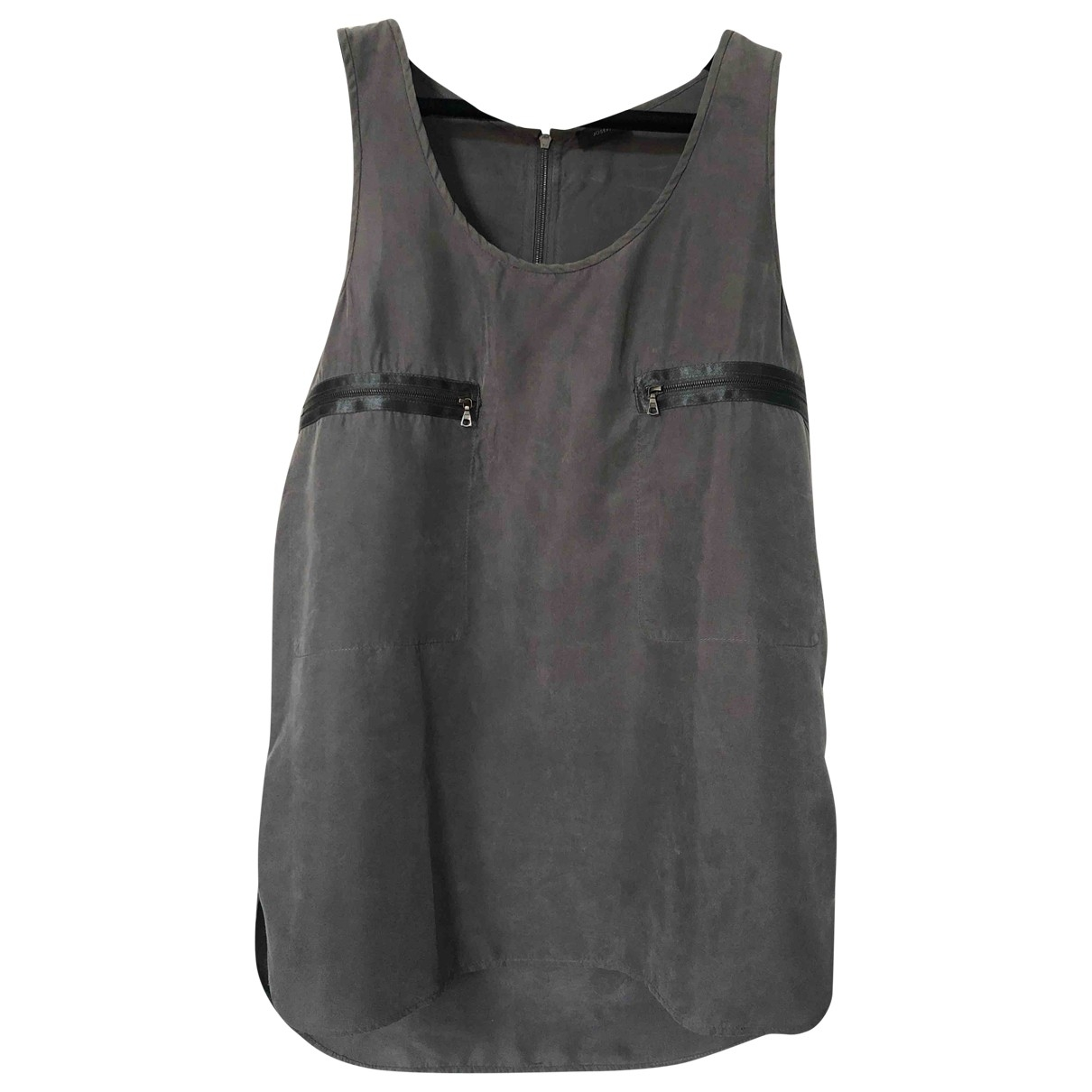 Joseph \N Grey Silk  top for Women 38 FR