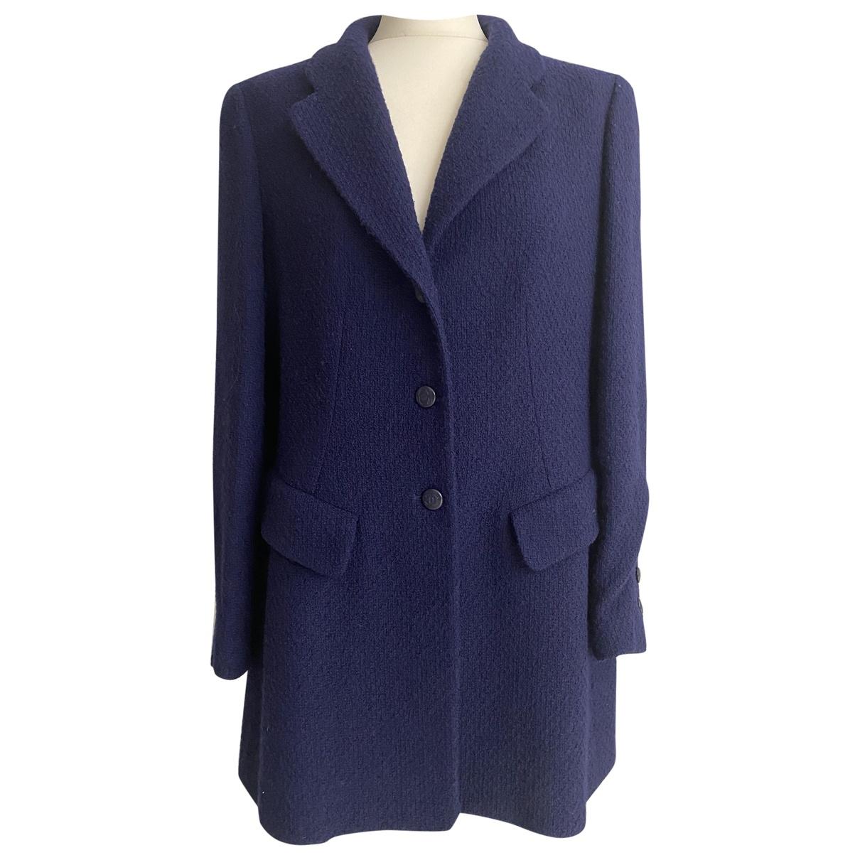 Chanel \N Blue Wool jacket for Women 44 IT