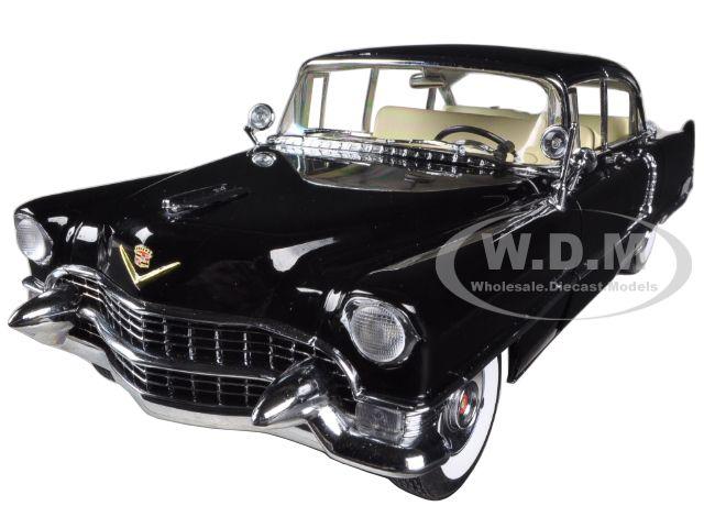 1955 Cadillac Fleetwood Series 60 Special Black 1/18 Diecast Car Model by Greenlight