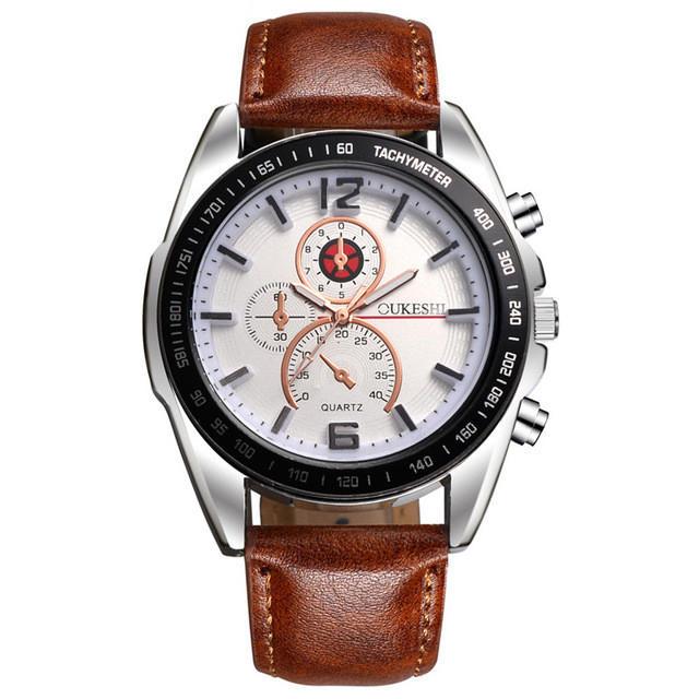 Deffrun Business Style Decorate Three Dials Quartz Watches