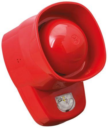 Fulleon Symphoni LX Sounder Beacon VAD 100dB, Red LED, 18 → 28 V dc