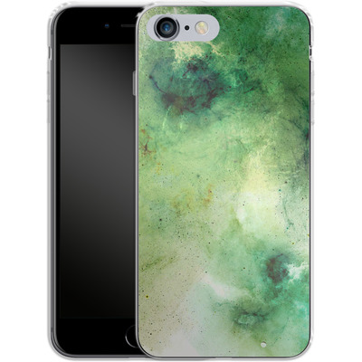 Apple iPhone 6s Plus Silikon Handyhuelle - Abstract Galaxy - Green von Barruf