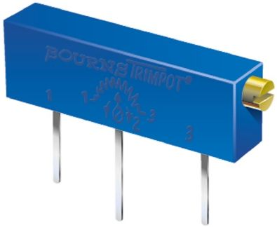 Bourns 10kΩ, Through Hole Trimmer Potentiometer 1W Side Adjust , 3059