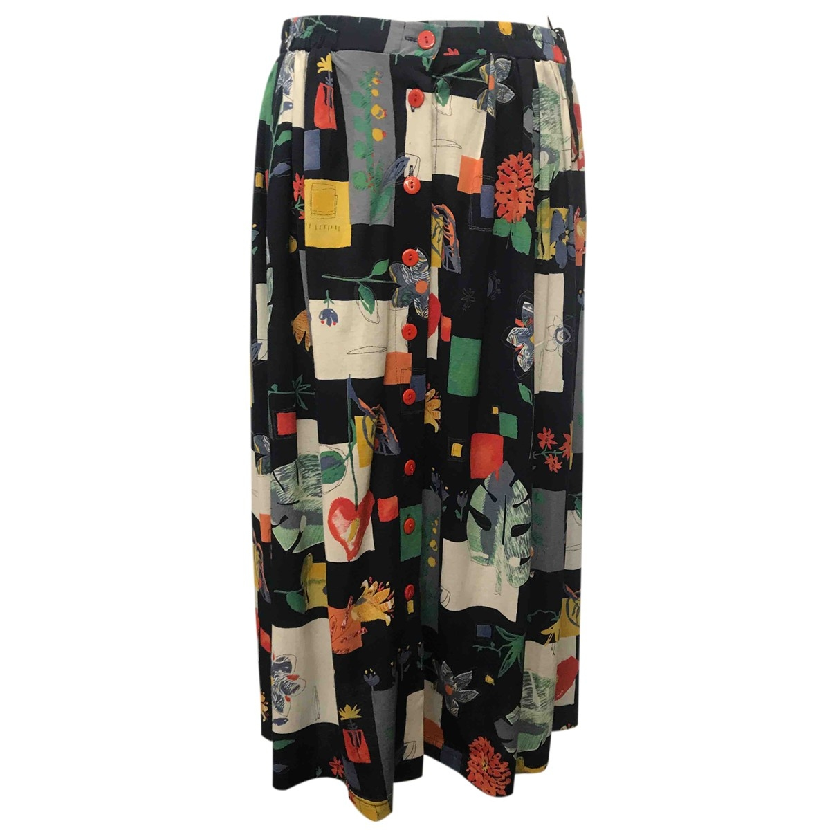 Non Signé / Unsigned \N Multicolour Cotton skirt for Women 46 IT