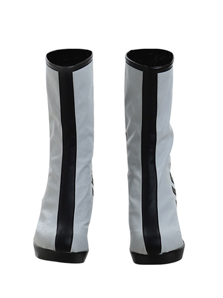 Milanoo DC Birds Of Prey Harley Quinn White Black Cosplay Shoes