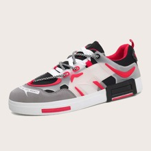 Men Color Block Skate Shoes