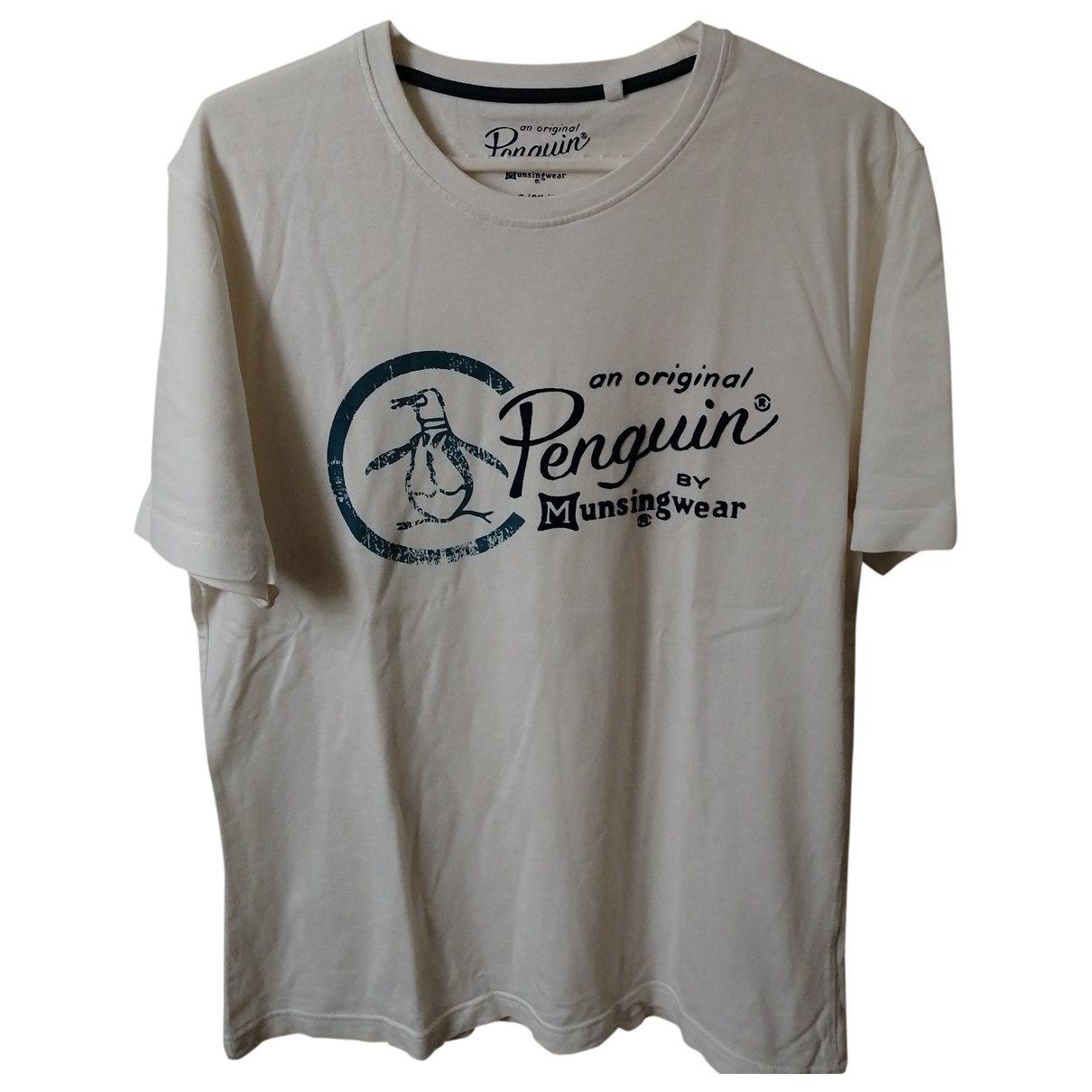 Original Penguin - Tee shirts   pour homme en coton - blanc