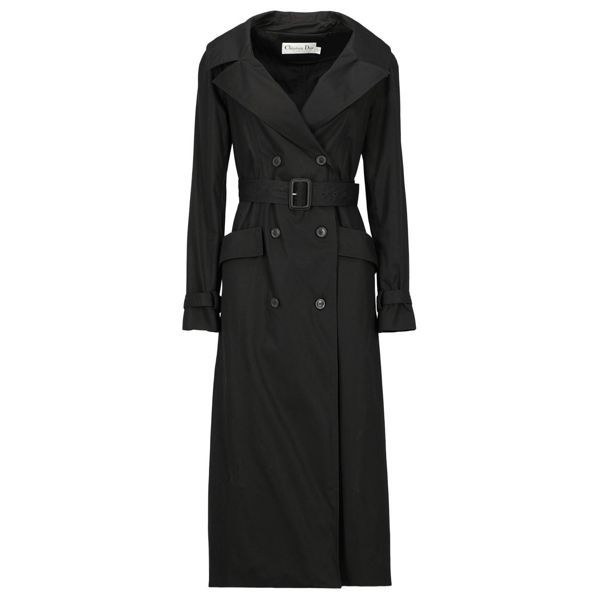 Dior - Trench   pour femme en coton - noir