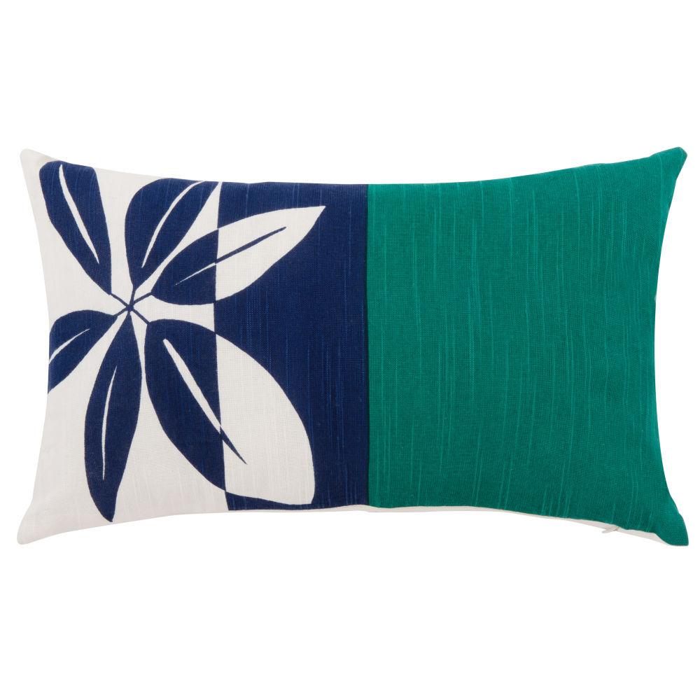 Kissenbezug aus bunter Baumwolle mit Blumendruckmotiv 30x50