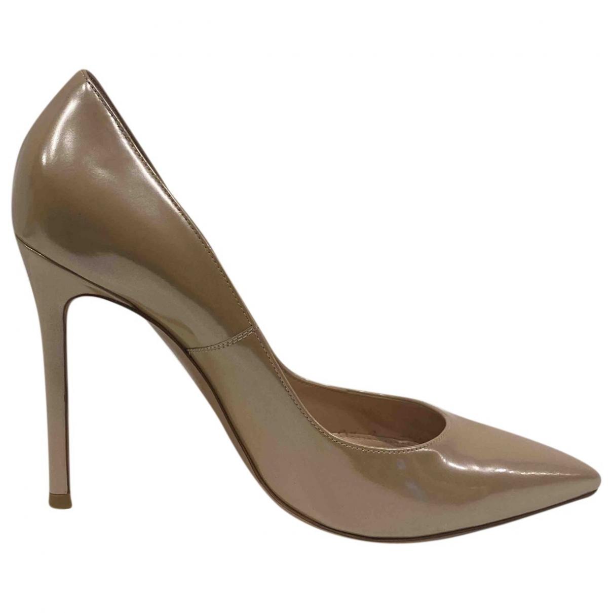 Gianvito Rossi - Escarpins Gianvito pour femme en cuir verni - beige