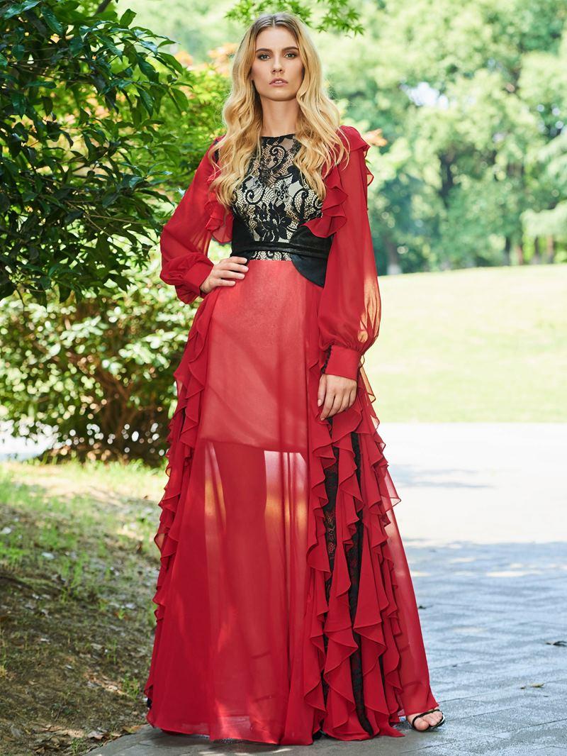 Ericdress A Line Long Sleeve Evening Dress