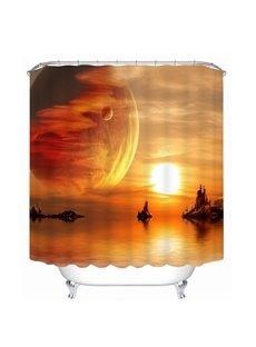 Fairyland Space in Sunset 3D Printed Bathroom Waterproof Shower Curtain