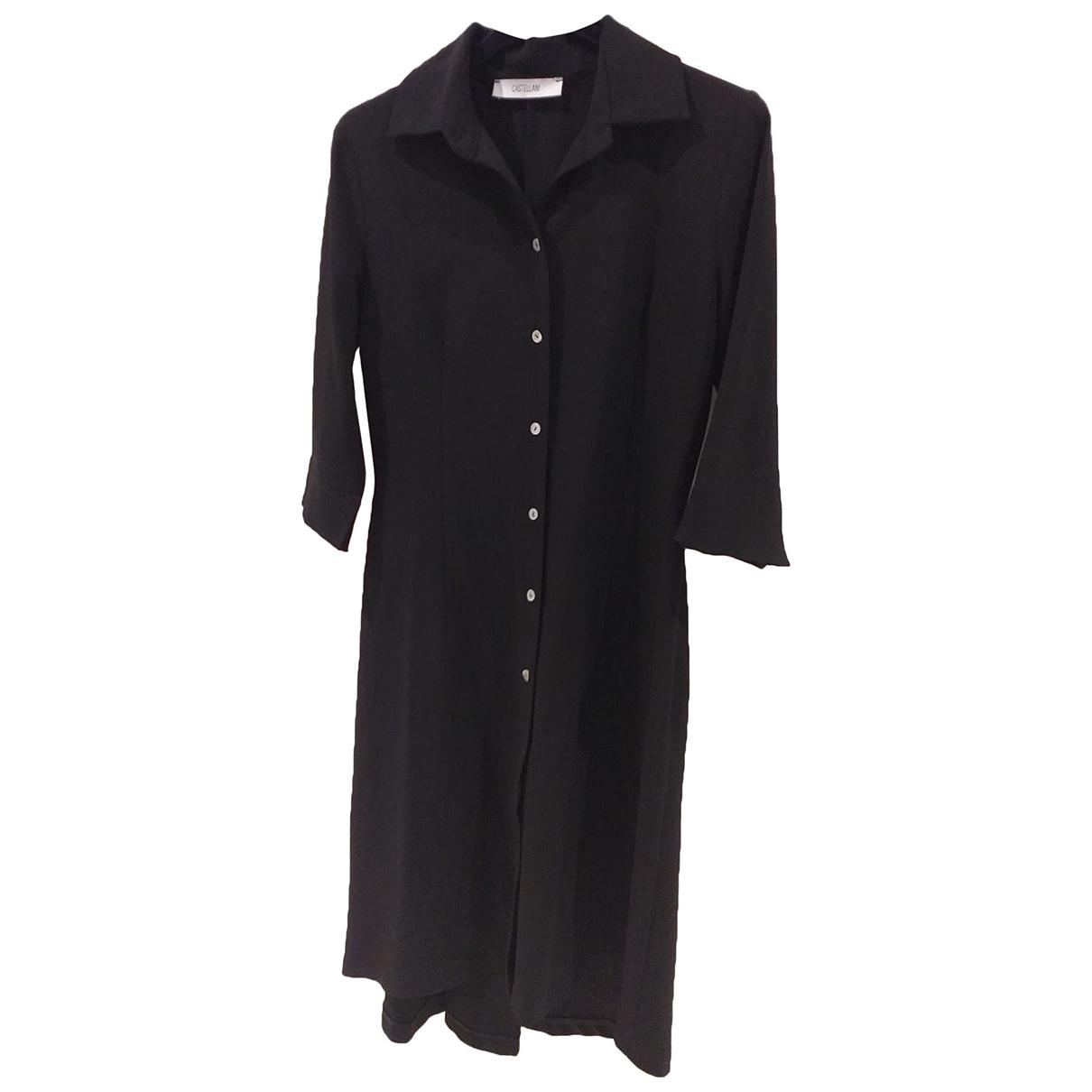 Flavio Castellani \N Kleid in  Schwarz Wolle