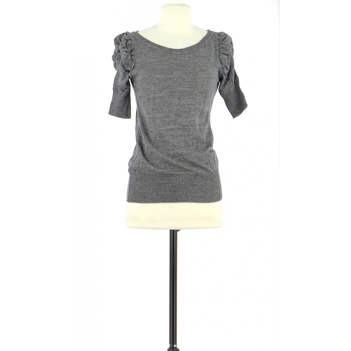 Non Signé / Unsigned \N Grey Cotton  top for Women 36 FR
