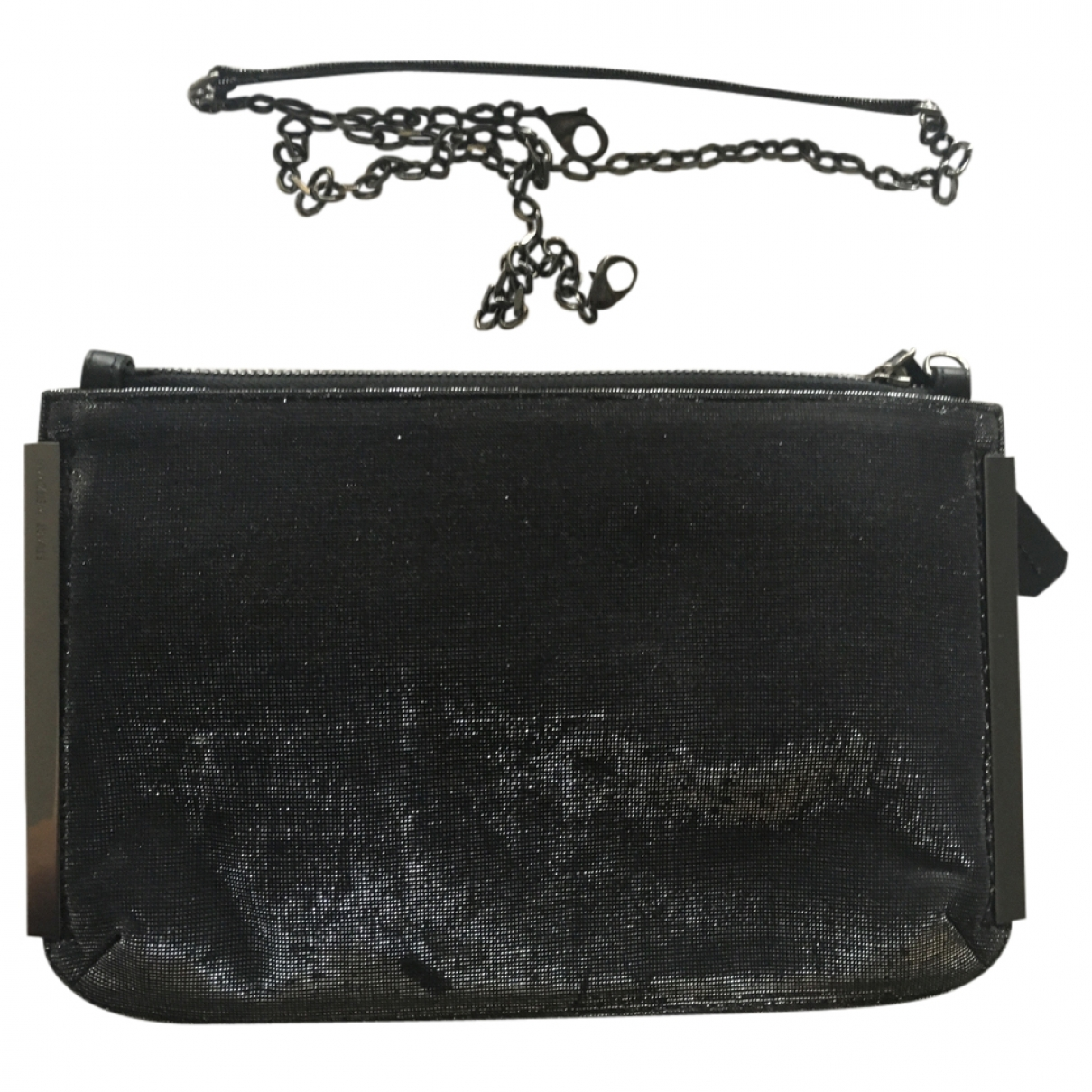 Stuart Weitzman \N Black Glitter Clutch bag for Women \N