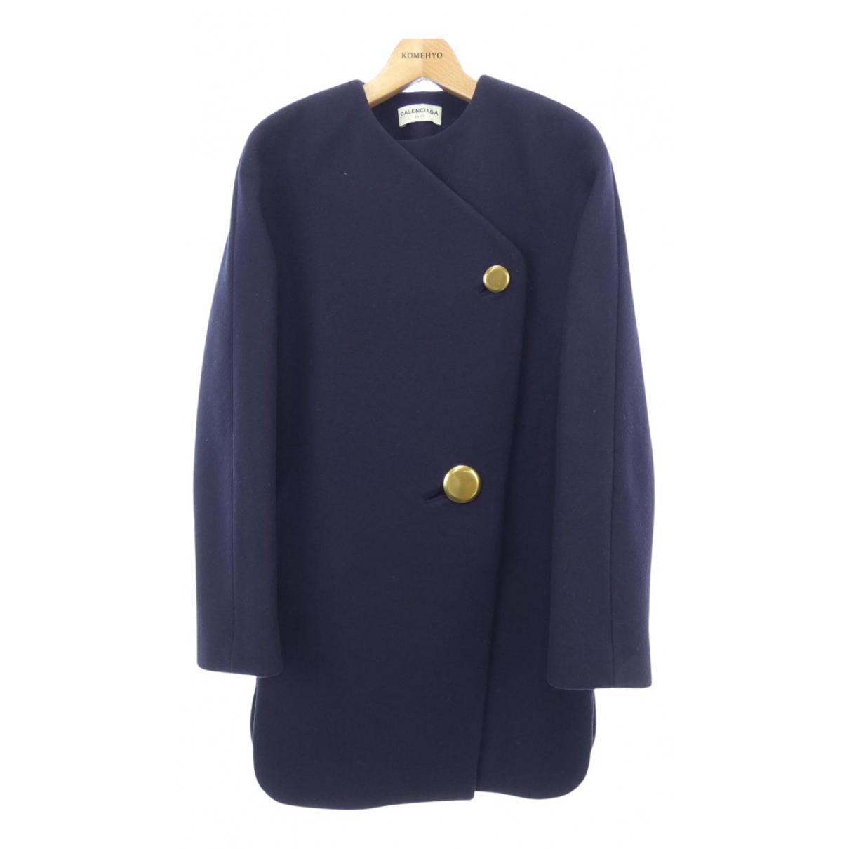 Balenciaga N Navy Cotton coat for Women 34 FR