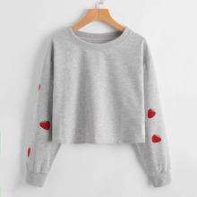 Strawberry Graphic Sweatshirt