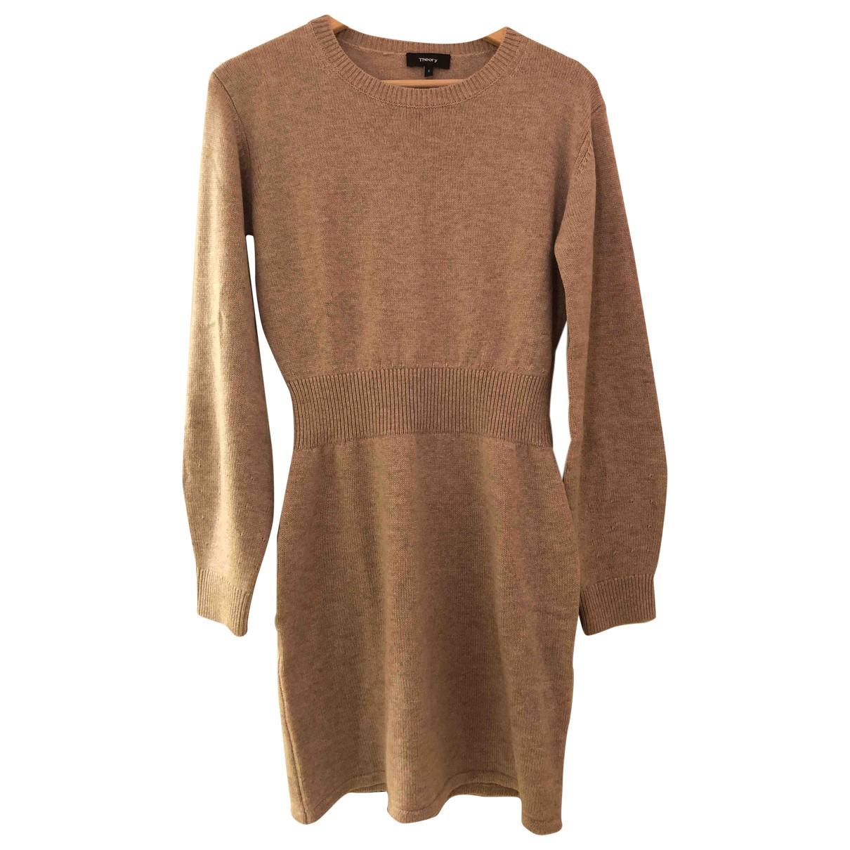 Theory \N Kleid in  Beige Wolle