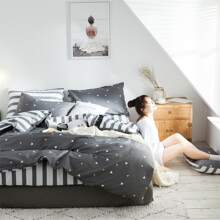 Triangle Print Bedding Set Without Filler