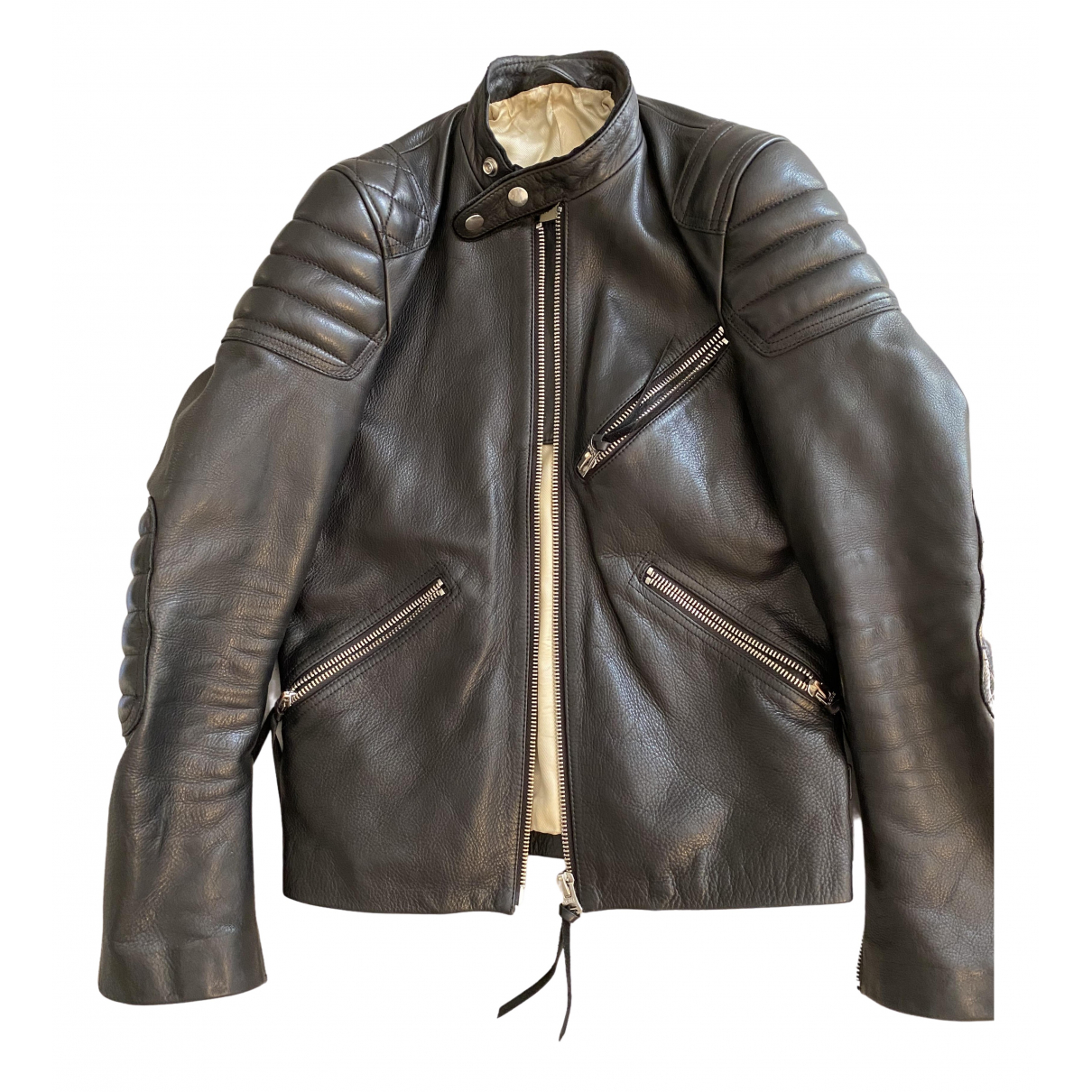 Acne Studios \N Black Leather Leather jacket for Women 44 FR