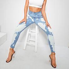Jeans mit Bleichen Waschung