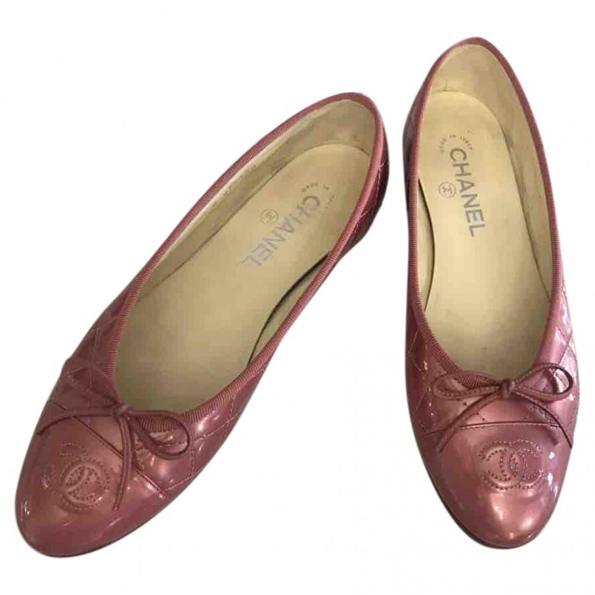 Chanel \N Ballerinas in  Rosa Leder