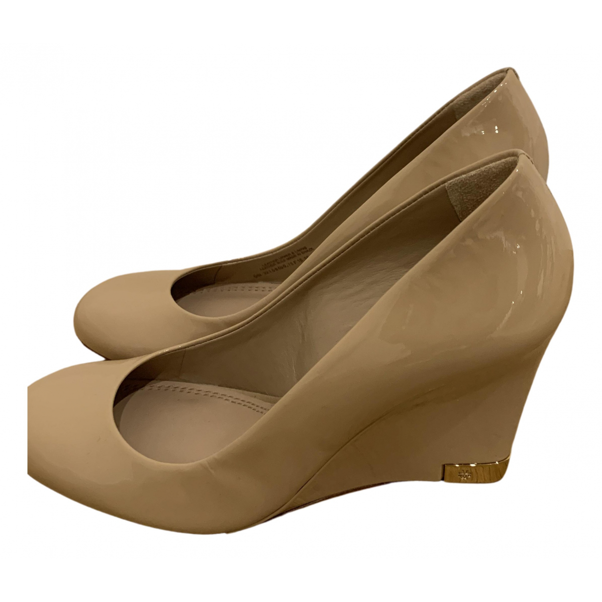 Tory Burch N Beige Patent leather Heels for Women 7.5 US