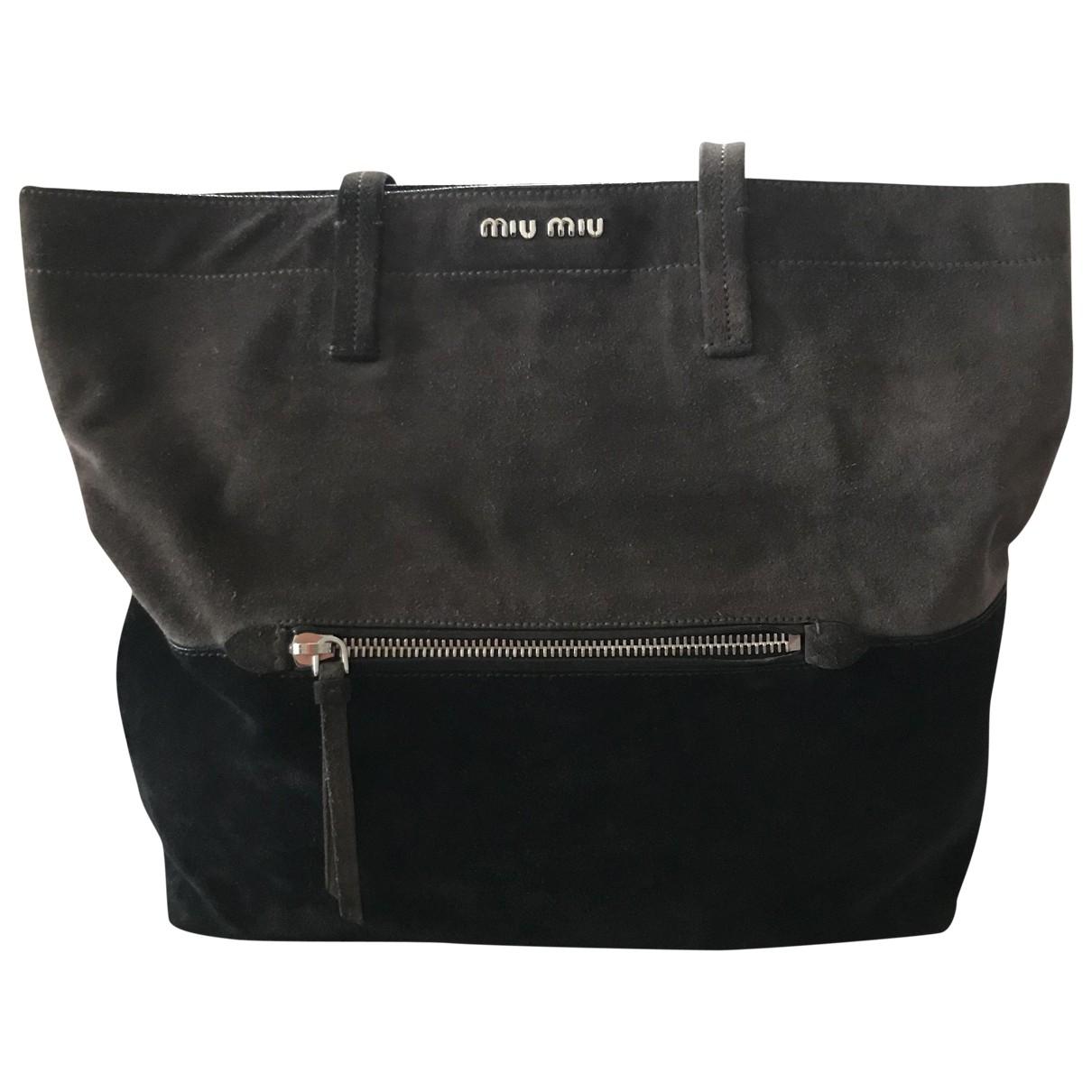 Miu Miu \N Black Suede handbag for Women \N