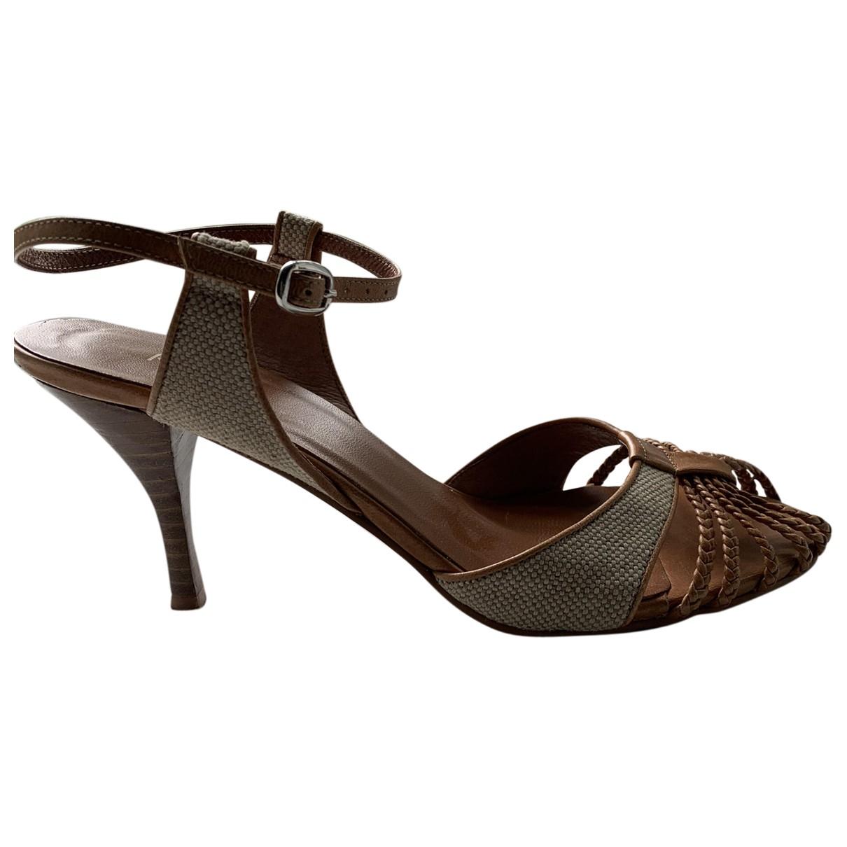 Kurt Geiger \N Camel Leather Heels for Women 38 EU