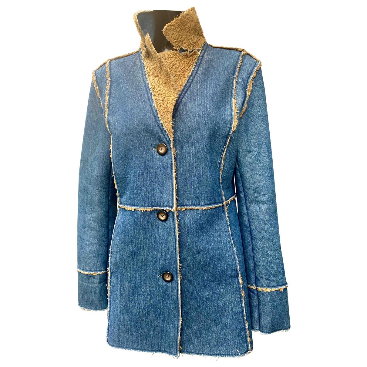 - Manteau Hippie Chic pour femme en denim - bleu