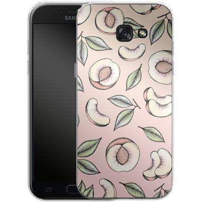 Samsung Galaxy A5 (2017) Silikon Handyhuelle - Peach Please von Barlena