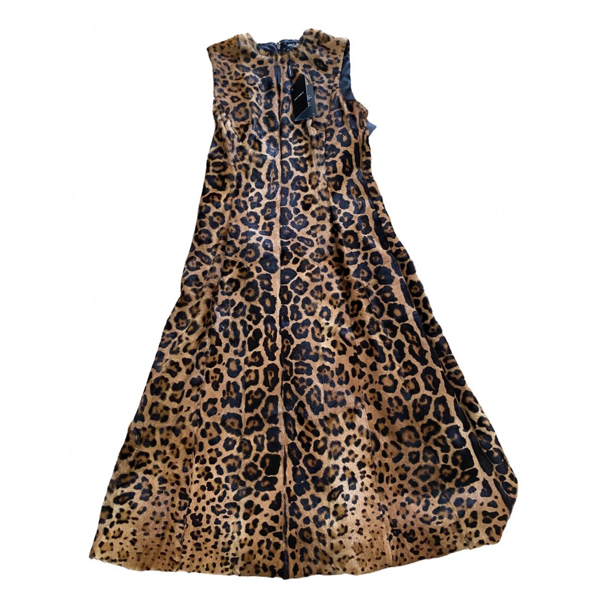 Dolce & Gabbana \N Kleid in  Bunt Leder